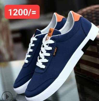 Breathable canvas rubber shoes-(blue)
